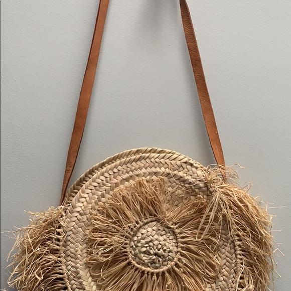 Anthropologie Handbags - Boho Rattan Bag made in Morocco